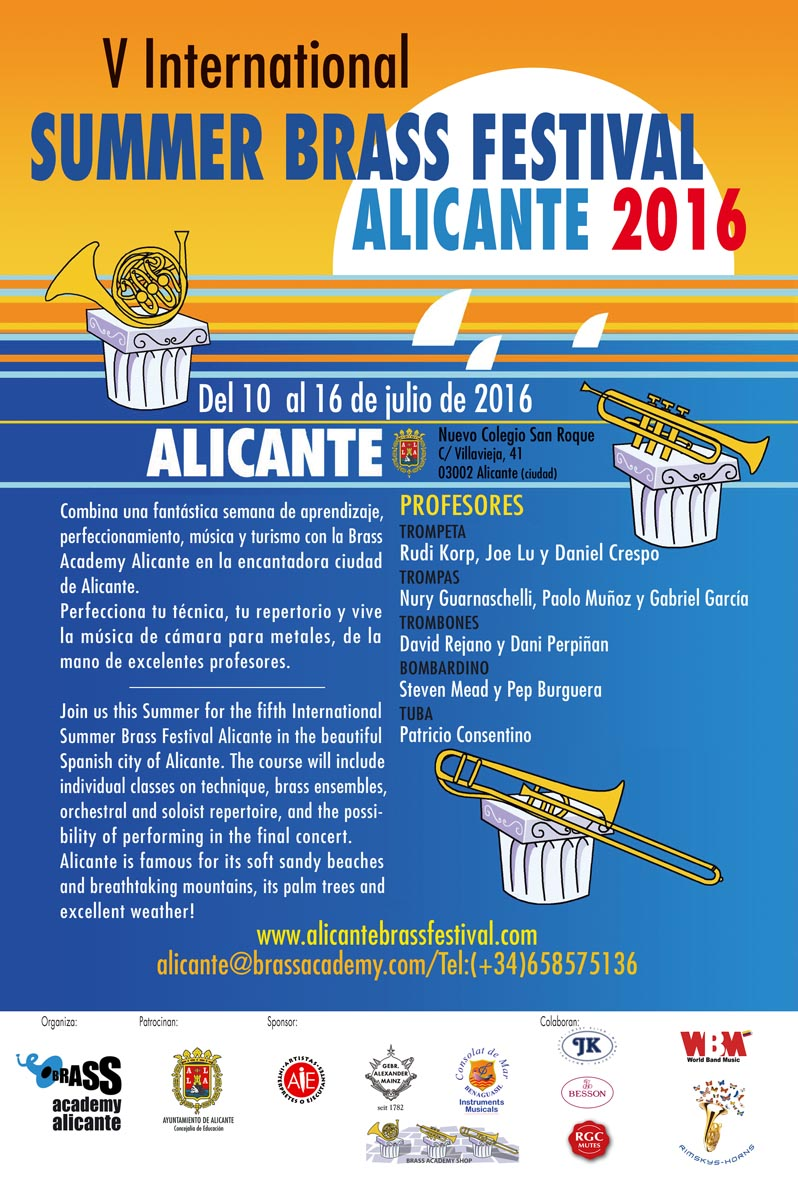V Summer Brass Festival cartel 2016